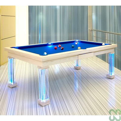 POOL MONACO 8' LED BLU, COPERCHIO VETRO
