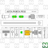 ASTINA FILETTATA LONGONI SERIE G (D10x1,5) NUDA - L420mm