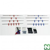 KIT COMPLETO A/P NORM ROSSO/BLU D/C CLASSIC