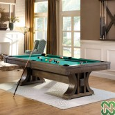 POOL BOSTON 8' FINITURA ROVERE MARRONE (PINO) CON COPERCHIO