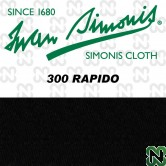 PANNO SIMONIS 300 RAPIDO 195 NERO COMPOSIZIONE: 90% lana - 10%  nylon