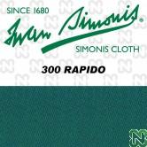 PANNO SIMONIS 300 RAPIDO 195 VERDE BLU COMPOSIZIONE: 90% lana - 10%  nylon
