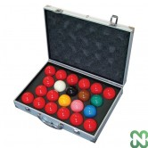 BILIE SET SNOOKER TOURNAMENT CHAMPION 1G 52,4 mm - 22 bilie con valigetta